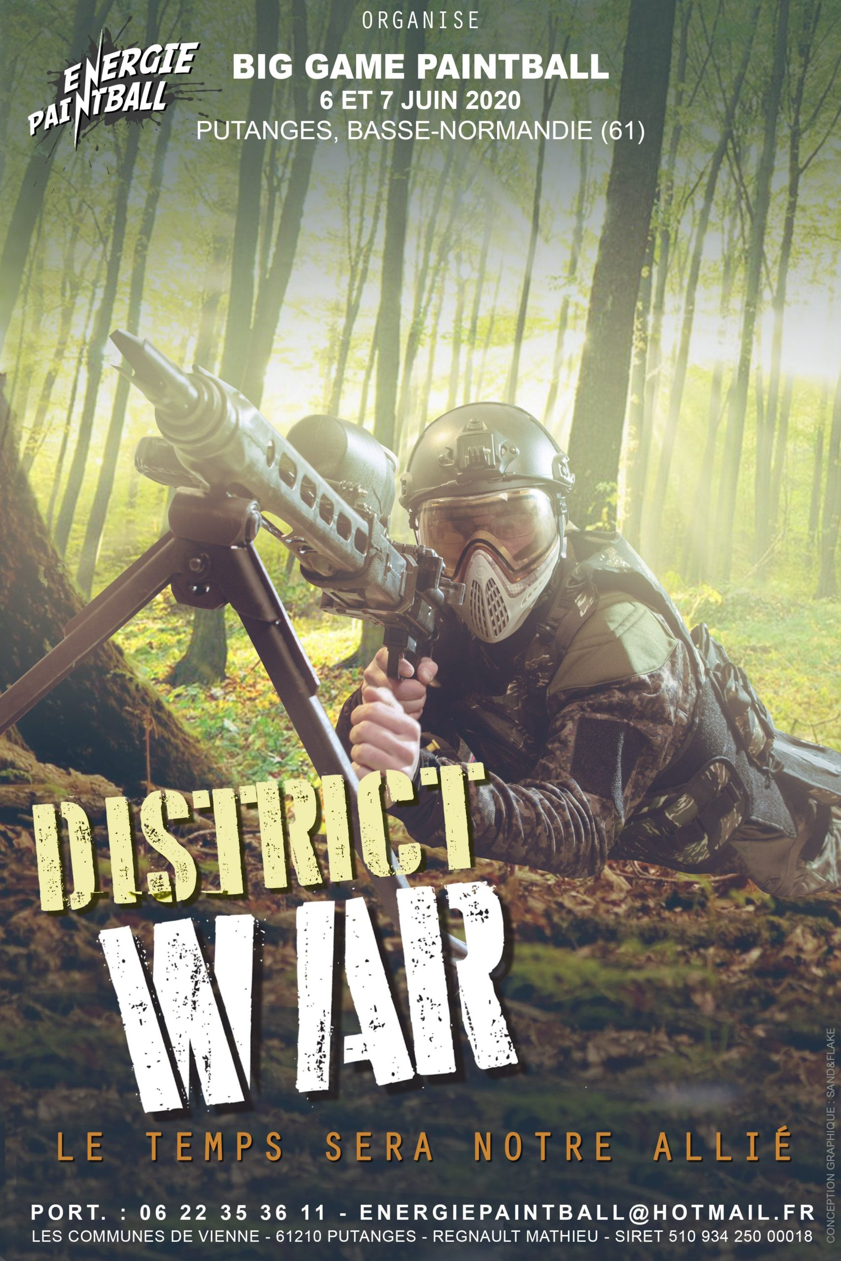 District War 2020 Big Game Energie Paintball Putanges